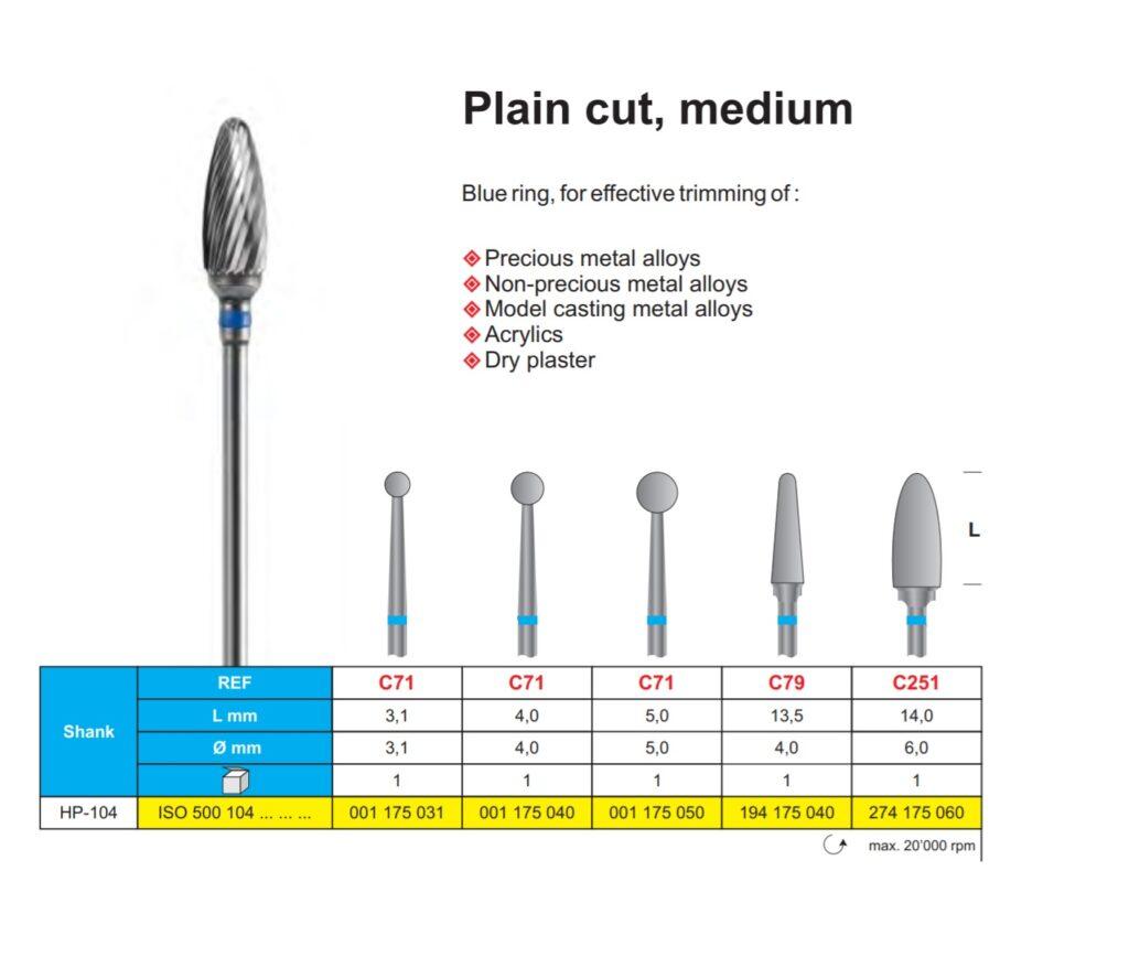 Plain cut, medium Image