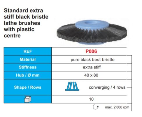 Standard extra stiff black bristle Image