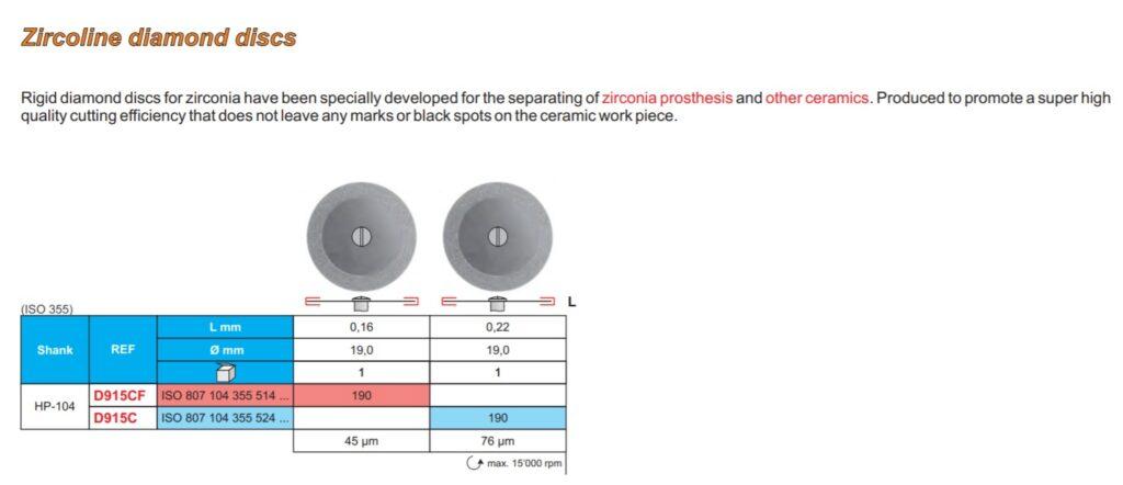 Zircoline diamond discs Image